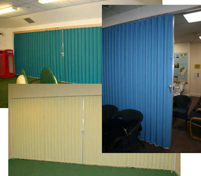 folding fabric partitions